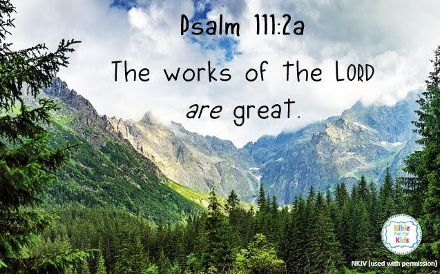 https://www.biblefunforkids.com/2019/08/the-works-of-Lord-are-great.html