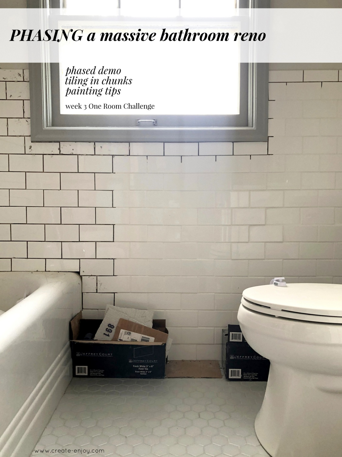 How To Phase A Bathroom Reno Keep That, Can You Paint Over Bathroom Tile