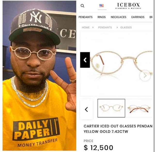 Davido Wore ₦4.5 Million Glasses To His Son's Naming Ceremony (Photos)