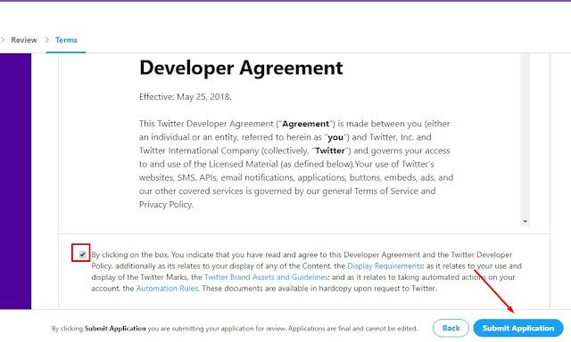cara daftar api key twitter dan cara mendapatkan API Twitter Free