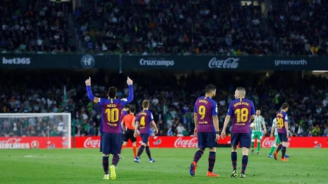 Hasil Liga Spanyol: Messi Hat-trick, Barca Gilas Betis 4-1