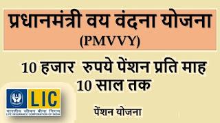 प्रधानमंत्री वय वंदना योजना (PMVVY) – वरिष्ठ नागरिकों के लिए पेंशन योजना:-