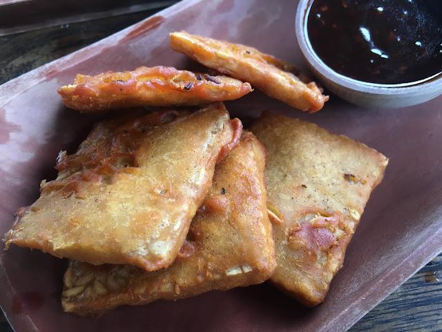 Fried tempeh at Sweet Orange Warung, Bali