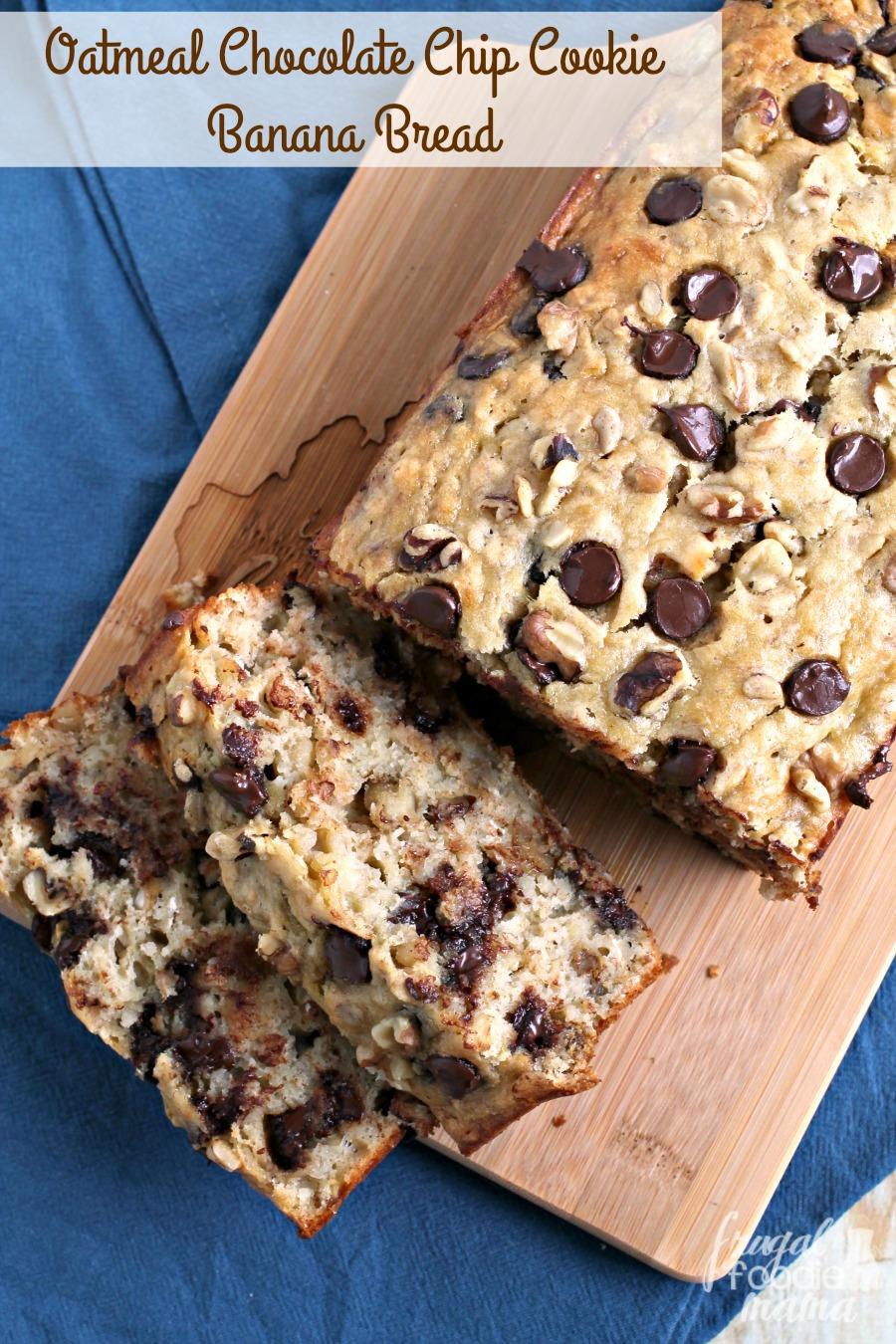 Frugal Foodie Mama: Oatmeal Chocolate Chip Cookie Banana Bread