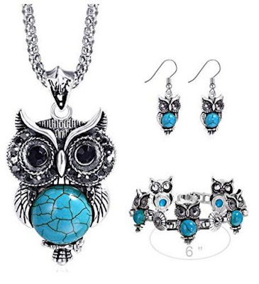 Vintage Owl Jewelry Sets