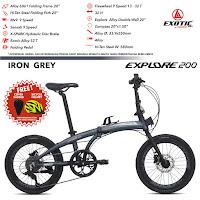 Sepeda Lipat Exotic Explore 200 Folding Bike