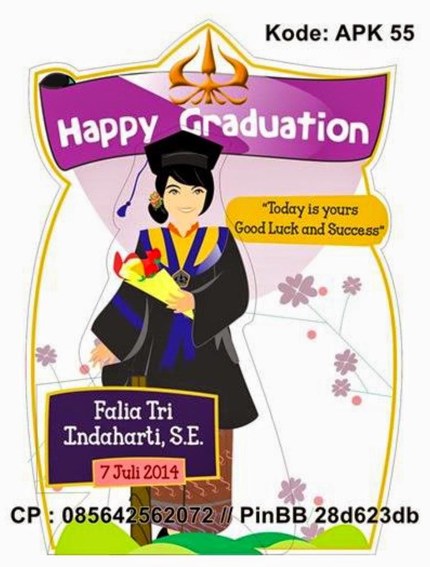 KABOWI PRODUSEN BONEKA WISUDA PLAKAT Souvenir Graduation KADO
