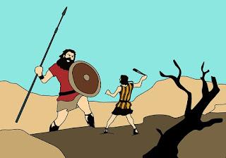 Pregação: Davi decidiu enfrentar Golias! E você? | 1 Sam 17 Desenho