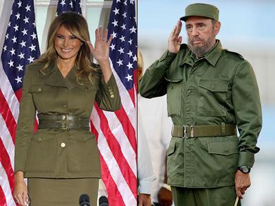 Melania Trump abandona la Casa Blanca vestida de comandante