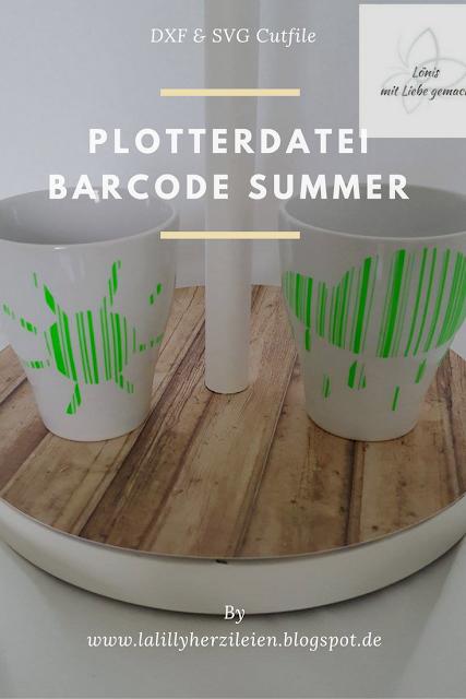 Tassen mit den Motiven Sonne und Norddeutsche Sonne aus den BarcodeSummer Plottervorlagen. Beispiel von Lönis