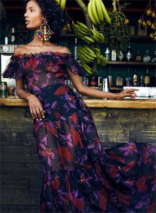 Isolda verão 2017 vestido ombro a ombro