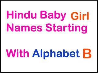 Hindu Baby Girl Names Starting With B With Meaning