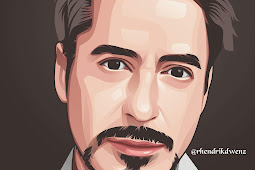 Tutorial membuat vector Robert Downey, JR. pemeran Iron Man di Infinite Design