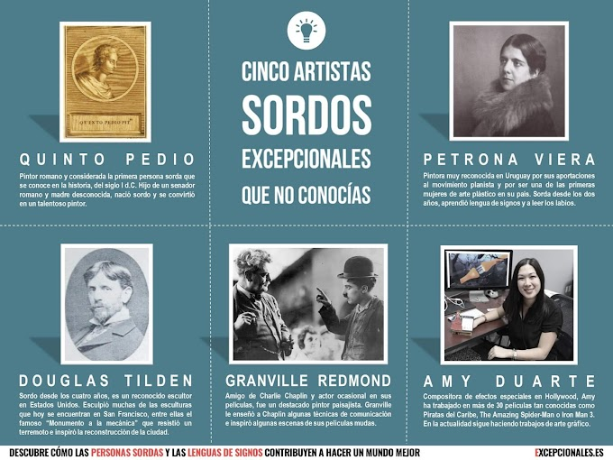 Infografía: cinco artistas sordos excepcionales que no conocías