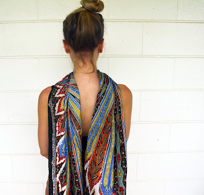 boho silk scarf