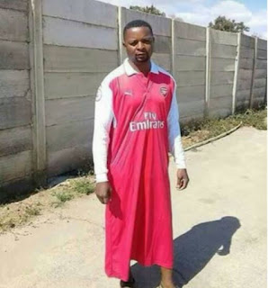 Check Out this Arsenal Fan's Jersey