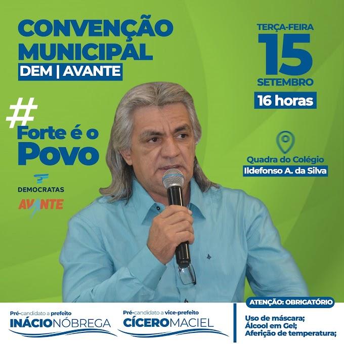 CONVENÇÃO: Inácio Nóbrega e Cicero Maciel serão oficializados candidatos à prefeito e vice-prefeito de Amparo na próxima terça