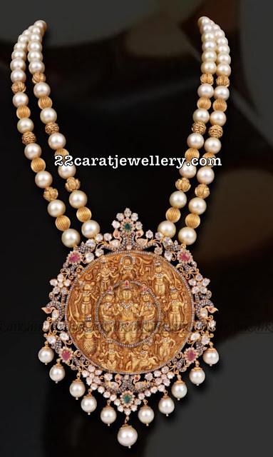 South Sea Pearls Set with Ramparivar Pendant