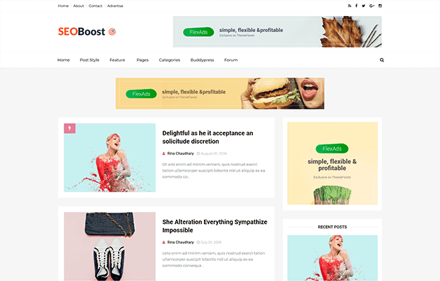 Seoboost Blogger Template
