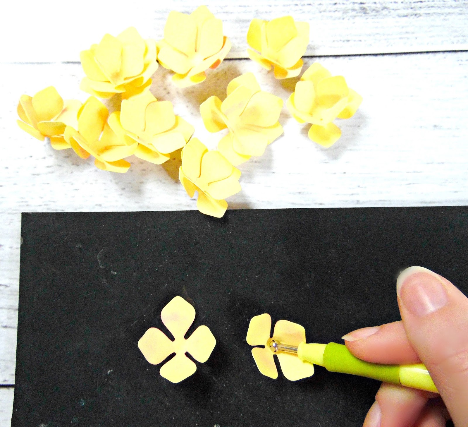 Easy paper hydrangeas catching colorflies cut out all your hydrangea petals i recommend a cutting machine for this project because of the detailed nature but the templates do come with an outline mightylinksfo