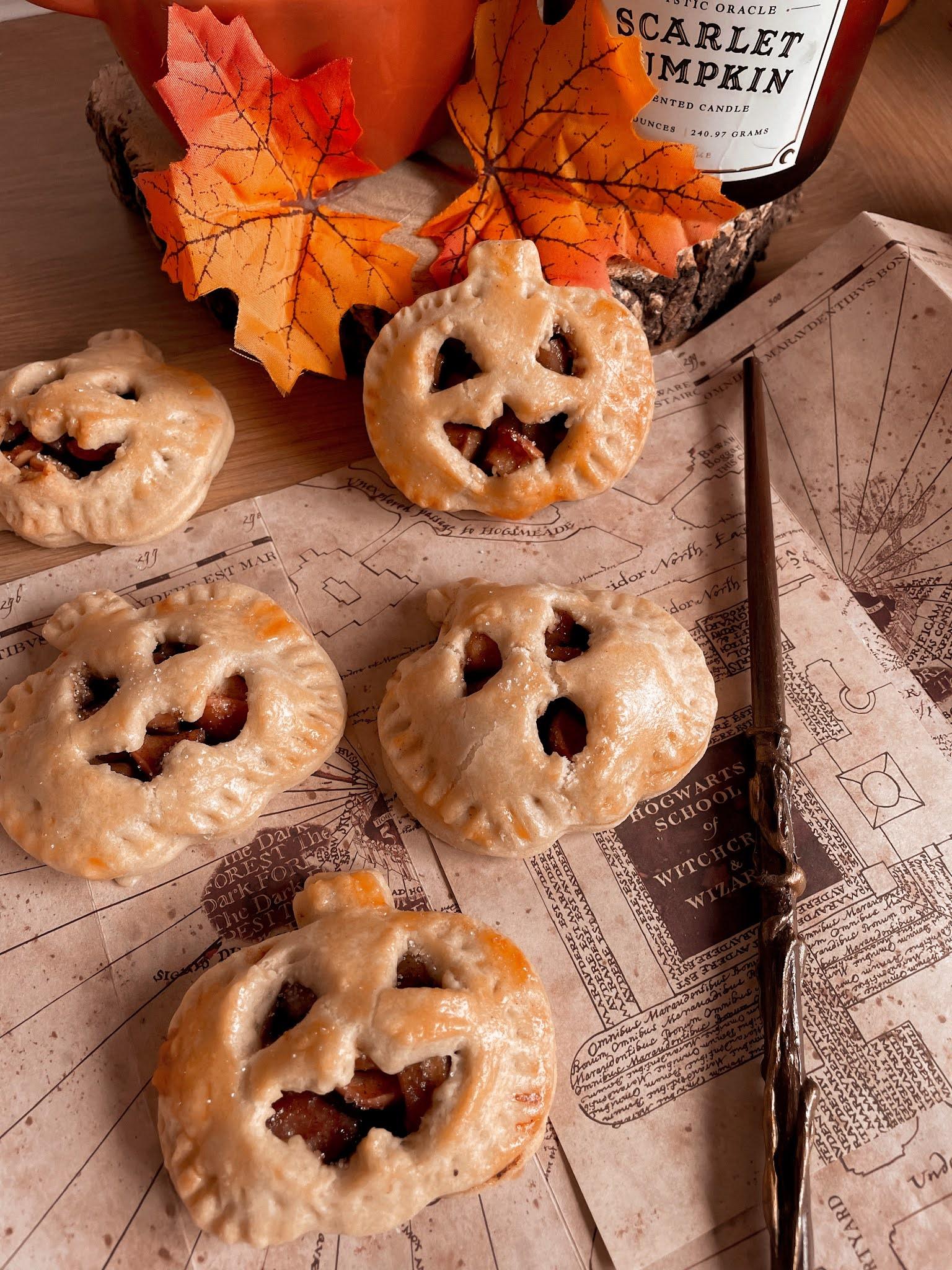 Pumpkin Shaped Mini Apple Pies