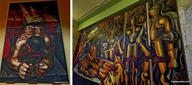 Murais de David Alfaros Siqueiros no Palácio Nacional de Bellas Artes, Cidade do México
