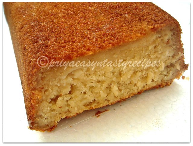 Banana Loaf Cake Recipe Eggless