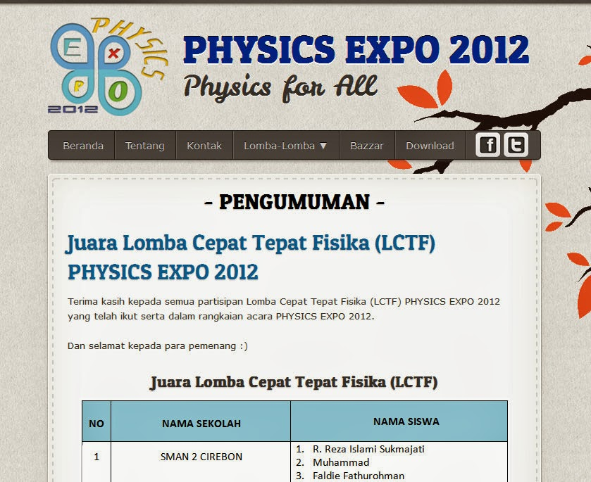 PHYSICS EXPO 2012  - Physics for All