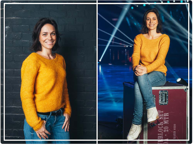 Nathalie Pechalat , ambassadrice de Showtime d'Holiday on ice