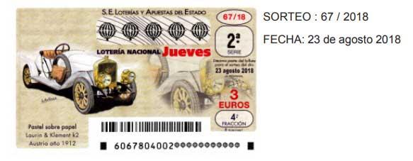 loteria nacional jueves 23 agosto 2018