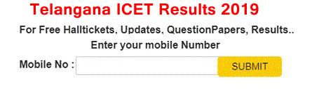 Telangana icet Results 2019