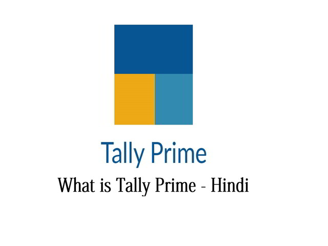 What is tally prime in hindi Learn Tally Prime in Hindi