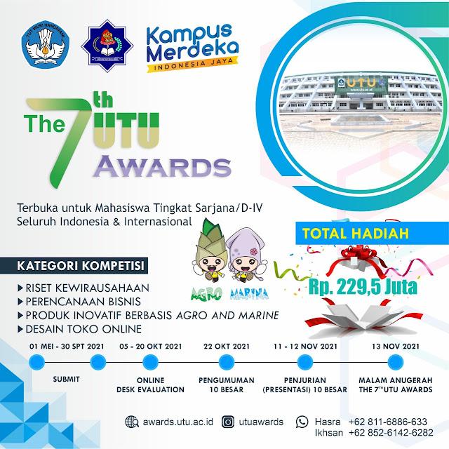 Pendaftaran 7th UTU Awards 2021, Kembali Dibuka pada 1 Mei 2021