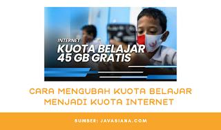Cara Mengubah Kuota Belajar Telkomsel Menjadi Kuota internet Utama (Reguler) Terbaru