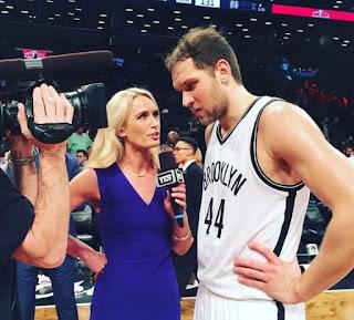 Sarah Kustok talking interview of player