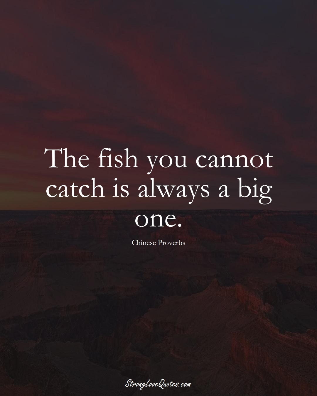 The fish you cannot catch is always a big one. (Chinese Sayings);  #AsianSayings