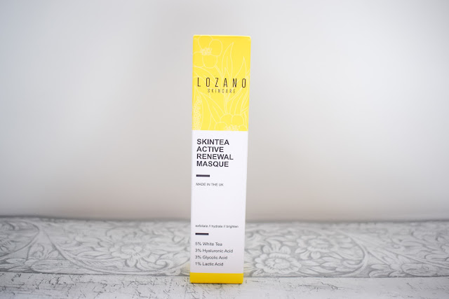 Lozano Skintea active renewal masque stood on table in packaging