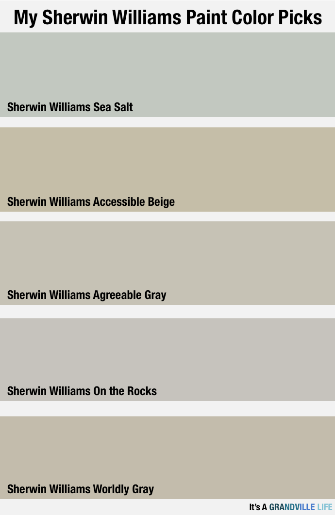 It S A Grandville Life Sherwin Williams Paint Picks For My