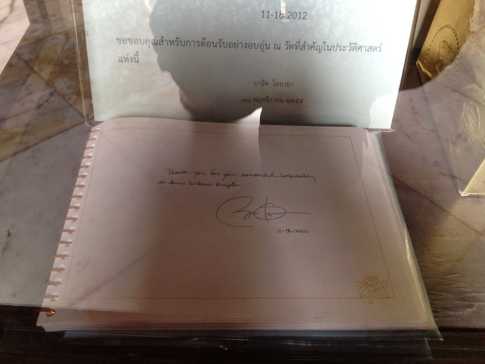 Bangkok - President Obama visited