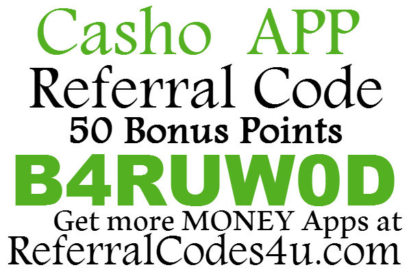 Casho Referral Code, 50 Bonus Points Casho Promo Code, Casho Sign Up Bonus 2016-2017