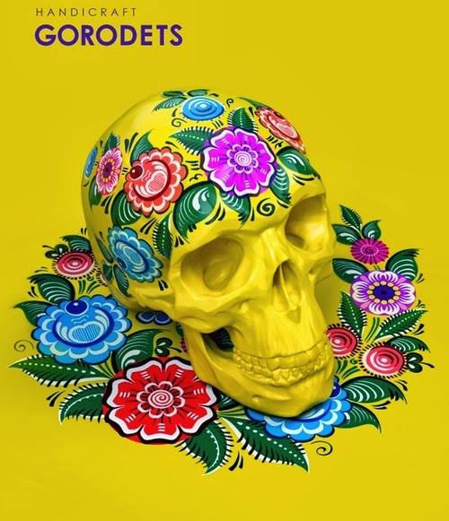 01-Gorodets-Style-Sasha-Vinogradova-Russian-Folk-Panting-Skulls-www-designstack-co