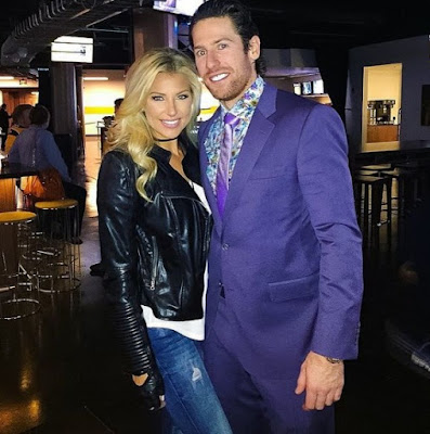 James Neal with his Girlfriend & to be with wife Melanie Collins
