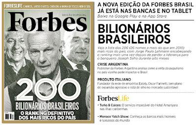 Forbes, bilionários brasileiros