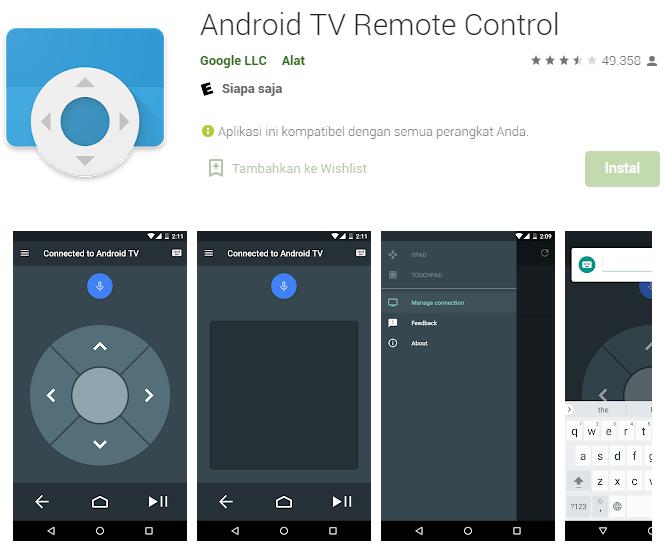 Aplikasi Remote TV - Android TV Remote Control