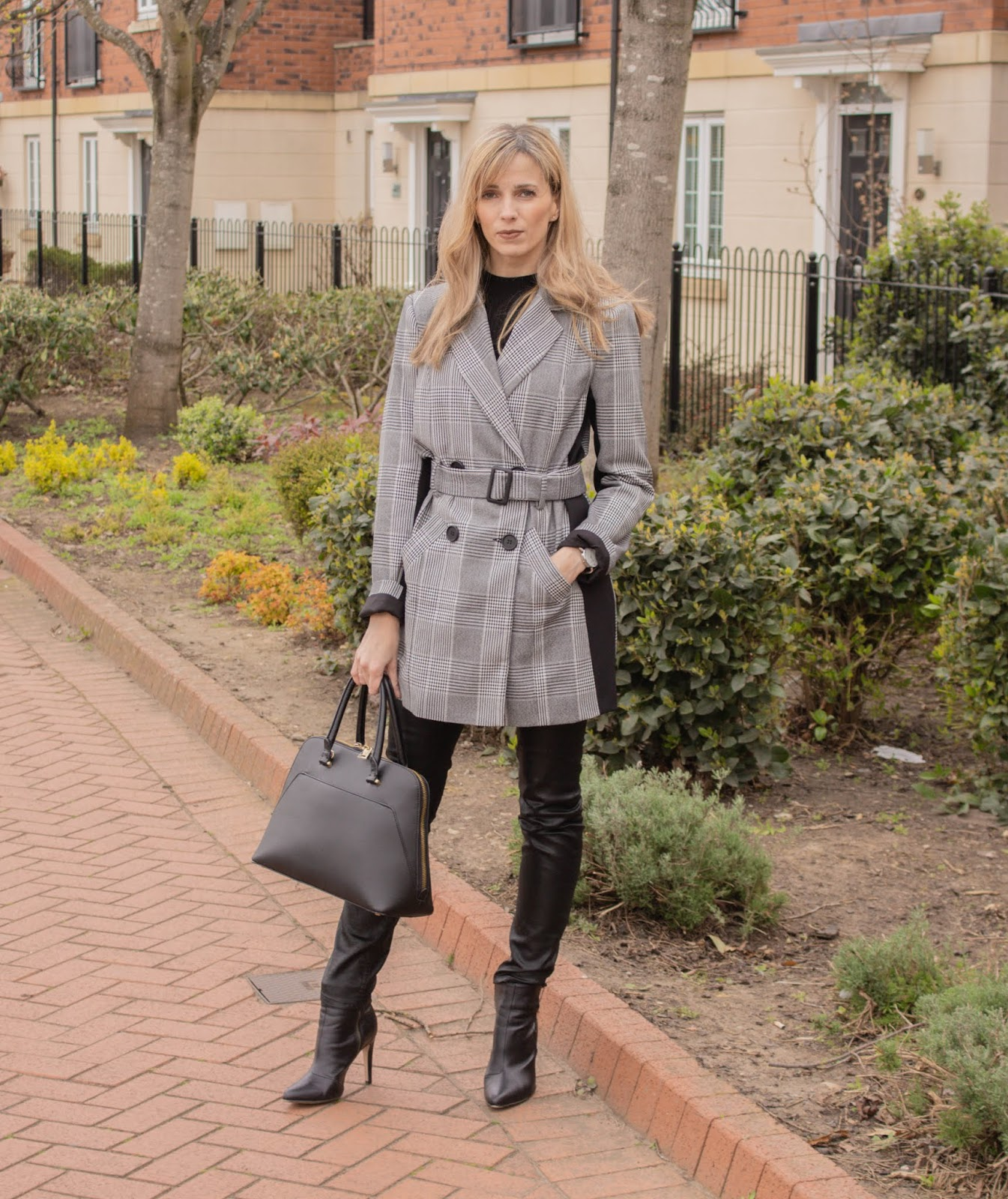 styling faux leather trousers over 40