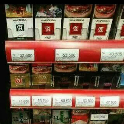 12 Editan Foto Harga Rokok Naik Sangat Ekstrim di Minimarket Ini Bikin Para Perokok Deg-degan