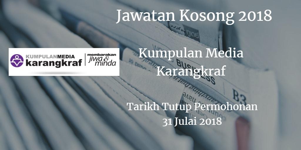 Jawatan Kosong Kumpulan Media Karangkraf 31 Julai 2018