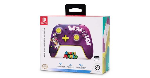 PowerA lançará controle para Nintendo Switch inspirado em Waluigi