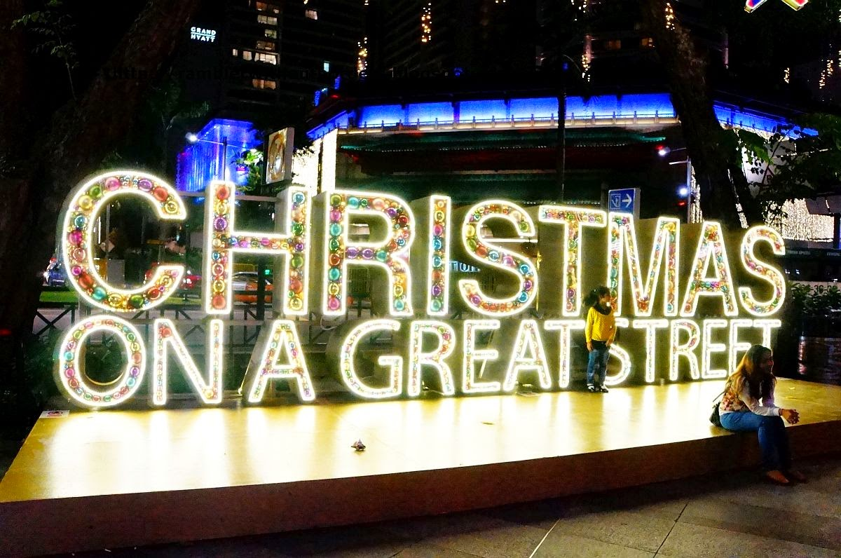 Christmas decorations, Orchard Road, Singapore