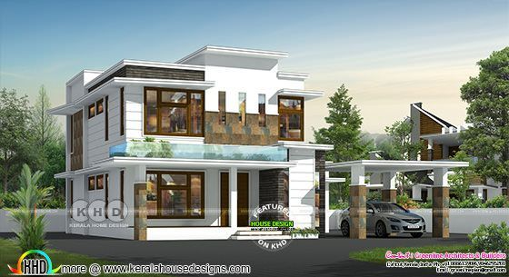 4 bedroom simple modern house plan